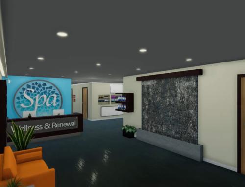 Virtual Reality Spa lobby