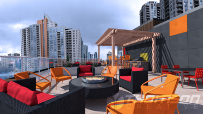 Roof Top Patio Render